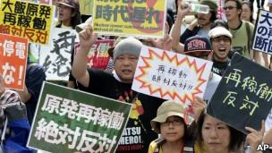 Запуск реакторов сопровождается многочисленными акциями протеста