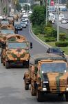 Турецкий военный конвой движется к сирийской границе