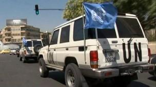 Наблюдатели ООН, прибывшие в деревню Тремсех, столкнулись с противоречивыми заявлениями о гибели мирных жителей