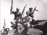 Члены Хагана, еврейского ополчения, в апреле 1948 года, после прорыва блокады Иерусалима Союзными арабскими силами