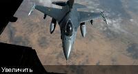 F-16 заправляется в воздухе над Ираком 15 марта 2017 года